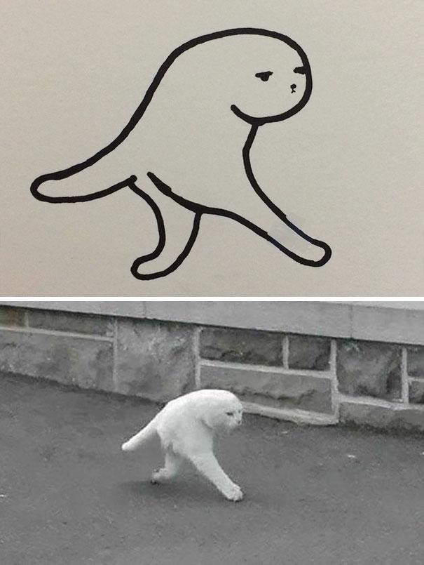 超現實貓畫作